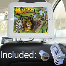 Car Headrest Mount Holder For Apple iPad 4 Including Charger & Extra Long Cable