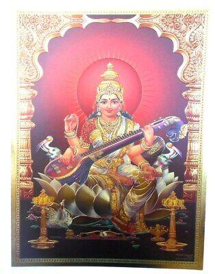 xl 13 BILD DURGA Prägedruck INDIEN Poster Kunststoff  40x30 cm