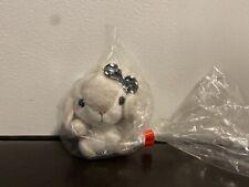 Amuse Pote USA Loppy Bunny Laying Down Sleepy Plush Mascot Yellow