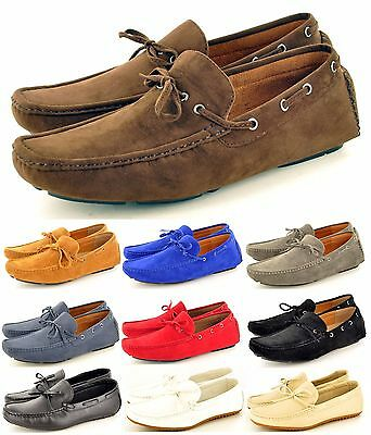 New Mens Casual Loafers Moccasins Slip On Shoes With Lace Detail In Uk Size 6-11