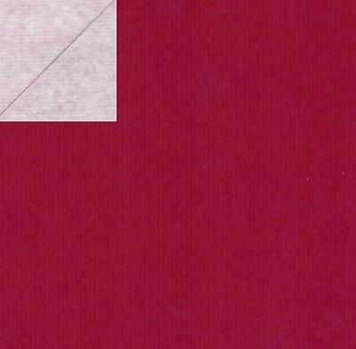 Geschenkpapier Secare Rolle uni-rot  ca. 250 m x 30 cm / enggerippt 60 g / m²