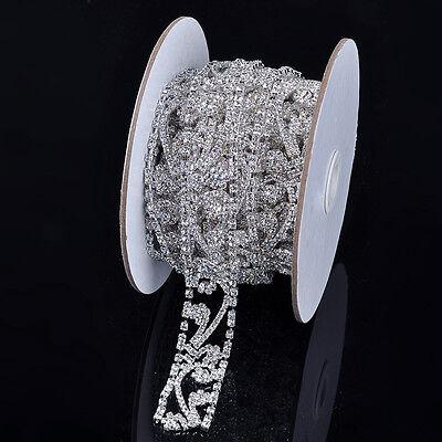 1 Yard Silver/Gold Long Trim Crystal Rhinestone Dress Sash Chain Wedding Bridal