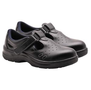Bon CœUr Portwest Steelite Sécurité Sandale Travail Chaussures Anti Glisse Perforé Steel Toe Fw01-afficher Le Titre D'origine Ni Trop Dur Ni Trop Mou