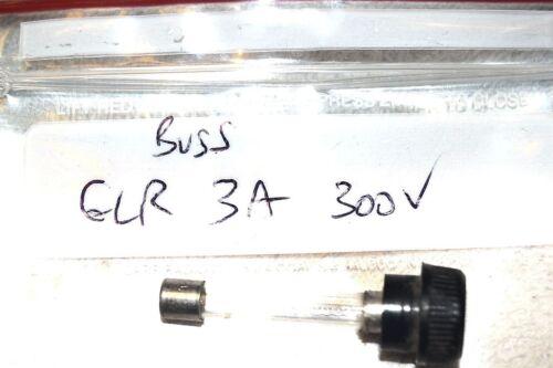 BUSS BUSSMANN GLR3 GLR-3 HANDLE KNOB FUSE 1 piece NEW NOS 3 ampere FAST ACTING