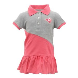 huge discount 96efb 41c0b Details about NFL Los Angeles Rams Infant & Toddler Girls Pink Polo  Cheerleader \ Dress NEW