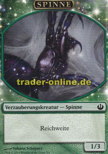 Token - Spider Spielstein Journey into Nyx Magic Spinne