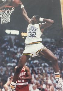 Karl-Malone-Professional-Photograph-1989-Original-Utah-Jazz-7x5