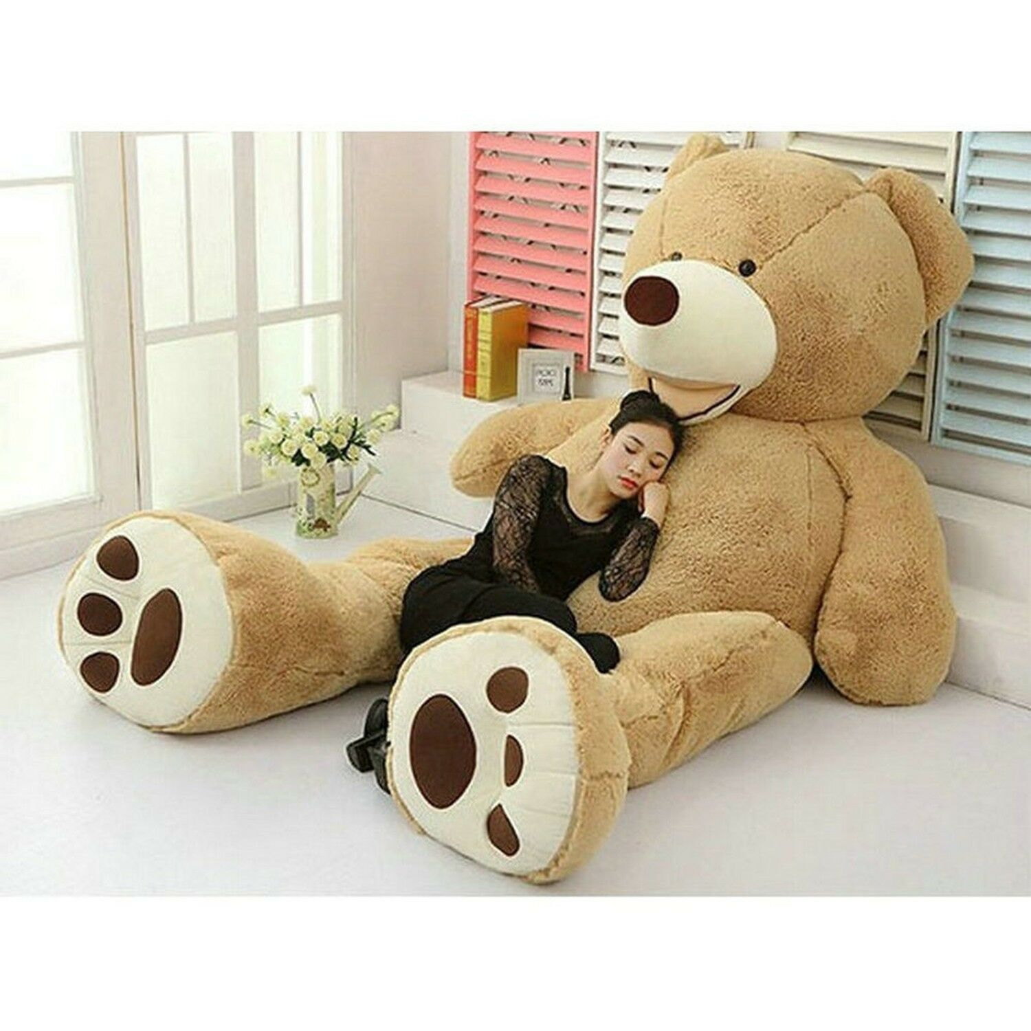 """PLUSH TOY SHELL WITH ZIPPER ONLY COVER 200CM SUPER HUGE TEDDY BEAR 79/"""" hot"""