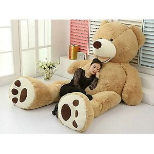 PLUSH TOY SHELL WITH ZIPPER 200CM SUPER HUGE TEDDY BEAR ONLY COVER 79/""