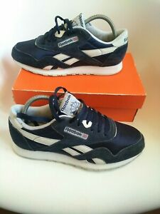 Reebok Classic mens Trainers size 8 navy blue classic ice limited