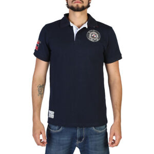 POLO-GEOGRAPHICAL-NORWAY-T-SHIRT-MAGLIA-Kaytoo-man-navy-blu-ESTIVA-MANICHE-CORTE