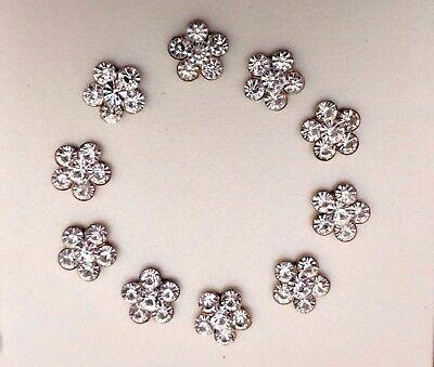 10 X 20 mm Diamante de Imitación hágalo usted mismo teléfono/Zapato Adornos-Invitaciones De Boda