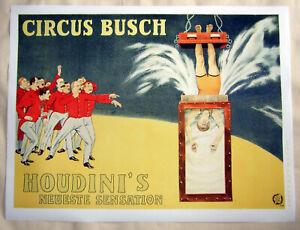 Large Format HiQ Facsimile 1915 Harry Houdini Water Torture Magic Poster 36x27
