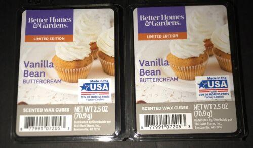 BETTER HOMES /& GARDENS Wax Melts VANILLA BEAN BUTTERCREAM 2.5 Oz Each