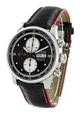 NWT Mens Mido Multifort Automatic M0056141606122 Black White Dial Leather Watch
