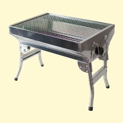 Aspiring Mangal Edelstahl 45 X 30 X 35 Cm Grill Bbq Standgrill Mit Klappbeinen Smoothing Circulation And Stopping Pains Yard, Garden & Outdoor Living