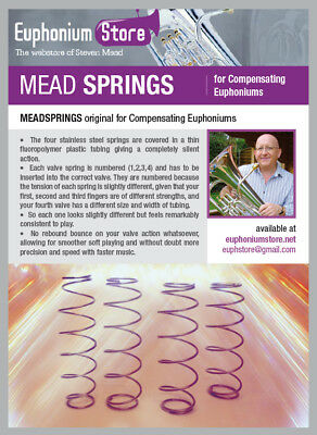SHHHhhhhhprings Specially Coated Euphonium Springs For Besson Sovereign etc.