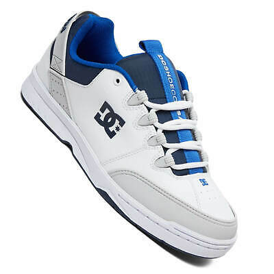 Herzhaft Dc Shoes Syntax Weiß Blau Herren Oldschool Skate Sneaker White/grey/blue