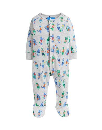 BNWT Joules Baby Boys Ziggy Marl Grey Sport Dino Babygrow Babygro Sleepsuit Cute