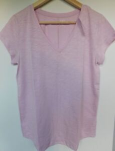 NWT-GAP-Women-039-s-Easy-V-Neck-T-Shirt-Iris-Rounded-Hem-XS-S-M-L-Free-Ship-New