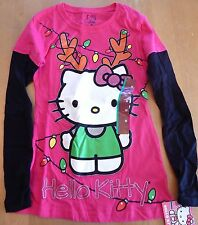 Sanrio Hello Kitty Reindeer Girl's T-Shirt Size M