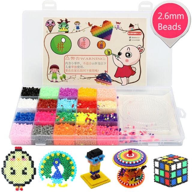1Box Perler Fun Fusion Hama Fuse Beads Refills Solid Colors for Kids Kit Craft