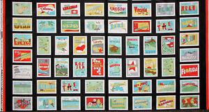 Road-To-Happiness-United-States-Tourist-Travel-Cotton-Fabric-StudioE-24-034-Panel