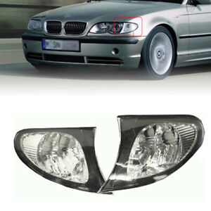 Details About Crystal Clear Euro Corner Light Silver Trim For 02 05 Bmw E46 3 Series 4dr Valid
