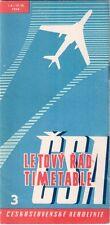 CSA CZECH AIRLINES TIMETABLE SUMMER 1959 CESKOSLOVENSKE AEROLINIE TU-104