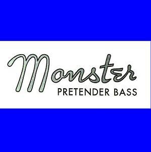 # # Nouveau Design-monster Prétendant Bass Decal Logo Idéal Pour Votre Imposteur! #-afficher Le Titre D'origine Une Offre Abondante Et Une Livraison Rapide