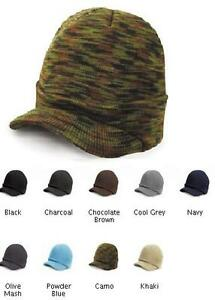 c1254060e3b Image is loading RESULT-ESCO-PEAKED-ARMY-KNITTED-HAT-RC060-9-