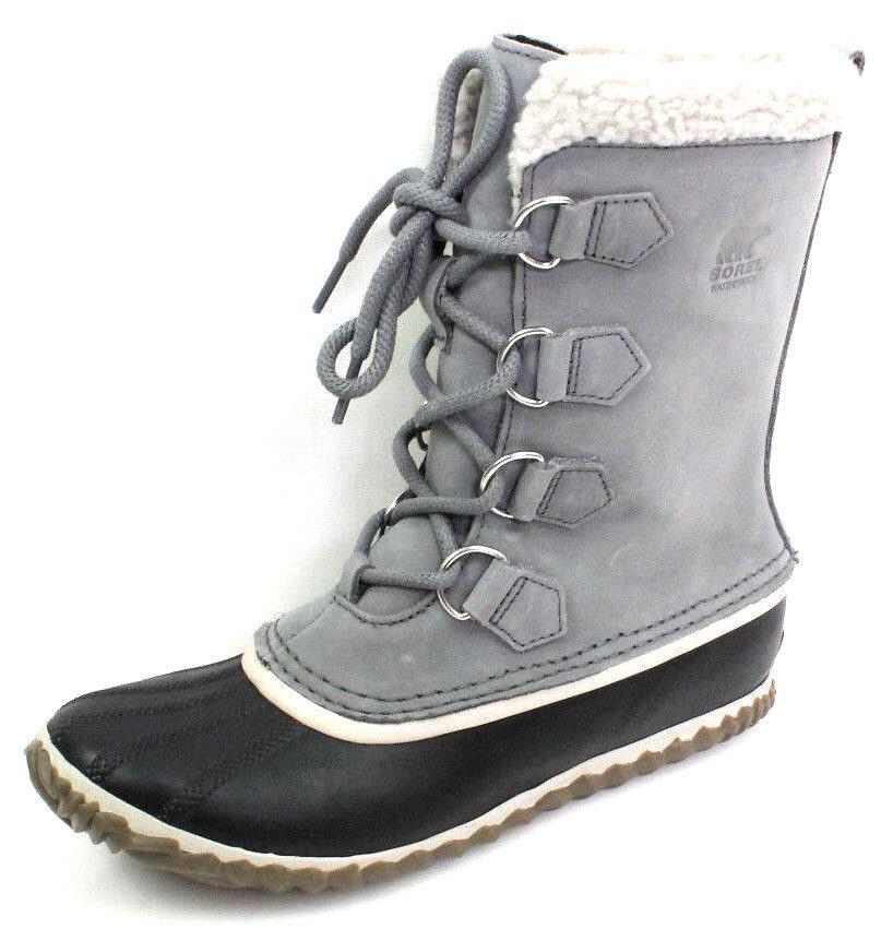 Sorel Caribou Gr.39,5 Damen Schuhe Warm Gefütterte Schneestiefel Stiefel Grau