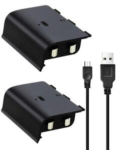 2x-Xbox-One-S-Wireless-Controller-Rechargeable-Battery-Pack-USB-Cable