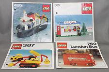 Lego descripciones 4 4005, 675, 387, 760 sin modelo!