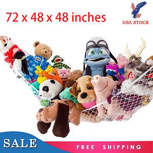 2X-Jumbo-Hammock-Toy-Net-Organizer-Corner-Stuffed-Animals-Kids-Hanging-Bath-Toys