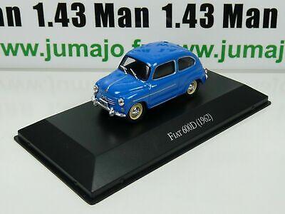 Fiat 600D 1962 ARG4G Voiture 1//43 SALVAT Autos Inolvidables Fitito