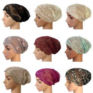 Nouveau-Femmes-dentelle-a-volants-Cancer-Chimio-Chapeau-Bonnet-Echarpe-Turban-Head-Wrap-Cap