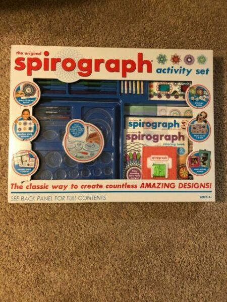 Spirograph Activity Set Mega 3D Glasses NEW box Huge fun learning drawing kit