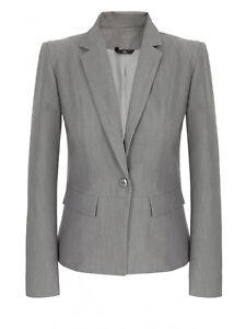 ff29517ae0a19 Veste de costume tailleur femme grise smoking blazer taille M 38 ...