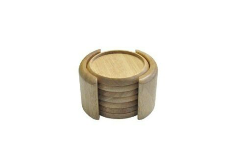 7tlg.Bambus-Untersetzer-Set Gläserhalter Holz-Tischschutz Bierdeckel Glas Tasse