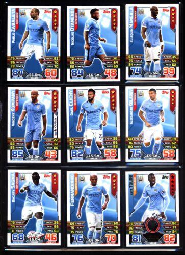 elija tarjetas * * por favor Manchester City Match Attax 2015//2016
