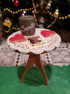 Details About Byers Choice Table W Heart Shaped Sugar Cookies Milk 4 Santa Christmas Valentine
