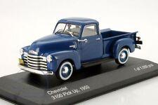 Chevrolet 3100 Pick Up 1950 - Blue 1:43 Metal Model Car. New Whitebox