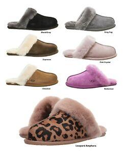 Donna-Scarpe-UGG-Scuffette-II-Pantofole-Nero-Grigio-Sabbia-Chestnut-ESPRESSO-ROSA