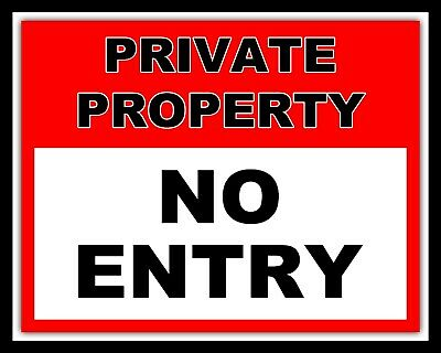 WARNING PRIVATE PROPERTY METAL SIGN RETRO VINTAGE STYLE SMALL shop cafe coffee