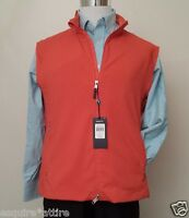 Polo Golf Ralph Lauren Men Size Xl Full Zip Orange Fully Zipped Vest