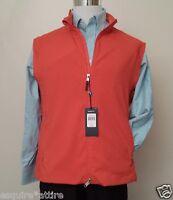 Polo Golf Ralph Lauren Men Size Xl Full Zip Orange Fully Zipped Vest
