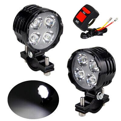 Schalter Universal 12V 30W LED Motorrad Dirtbike Nebel Licht Zusatzscheinwerfer