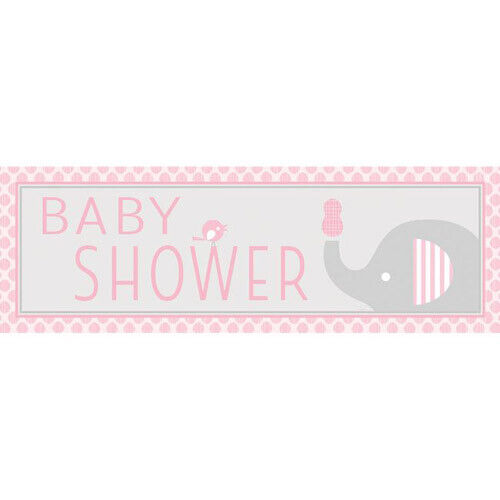 BABY SHOWER Little Peanut Girl GIANT PLASTIC BANNER ~Party Supplies Room Hanging