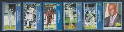 Mnh Sg 4091/5 West Indies Set 2007 Frank Antigua World Cup Cricket